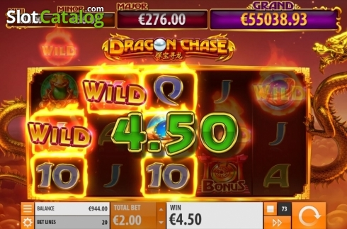 Win Screen 2. Dragon Chase (Video Slot from Quickspin)