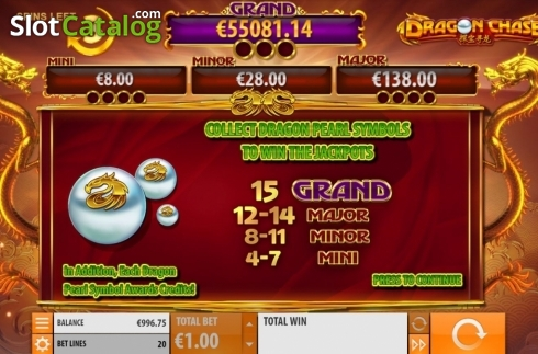 Jackpot 2. Dragon Chase (Video Slot from Quickspin)