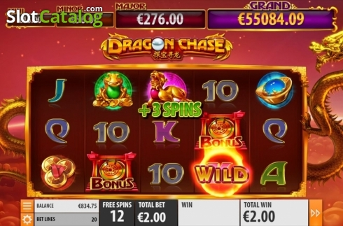 Free Spins 3. Dragon Chase (Video Slot from Quickspin)