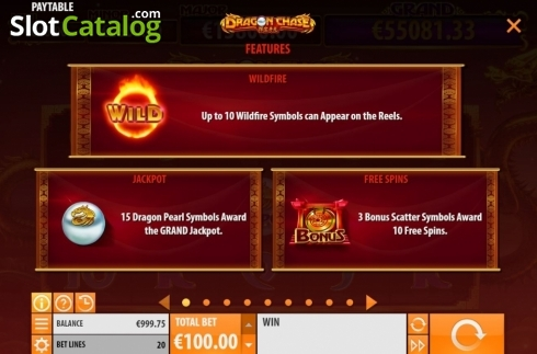 Features 1. Dragon Chase (Video Slot from Quickspin)