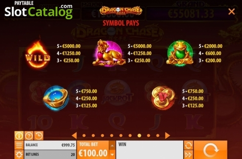 Paytable 1. Dragon Chase (Video Slot from Quickspin)