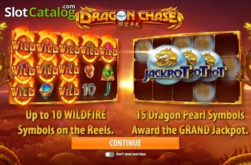 Start Screen. Dragon Chase (Video Slot from Quickspin)
