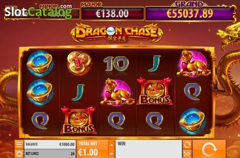 Reel Screen. Dragon Chase (Video Slot from Quickspin)