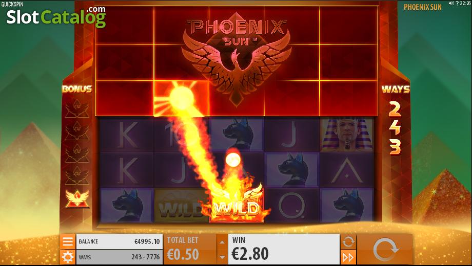 Phoenix Sun slot - wins arise at Casumo casino
