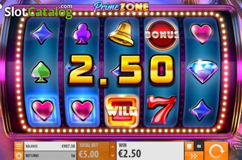 Win Screen 2. Prime Zone (Video Slot from Quickspin)