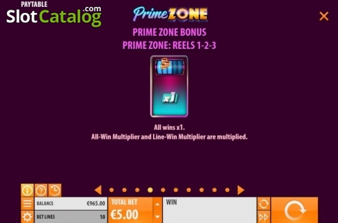 Features 4. Prime Zone (Video Slot from Quickspin)
