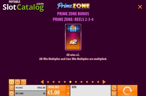 Features 5. Prime Zone (Video Slot from Quickspin)