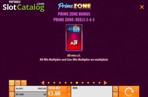 Features 6. Prime Zone (Video Slot from Quickspin)