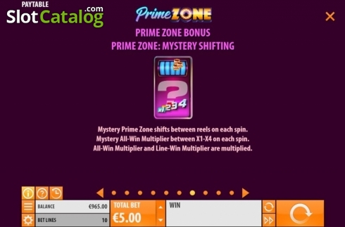 Features 7. Prime Zone (Video Slot from Quickspin)