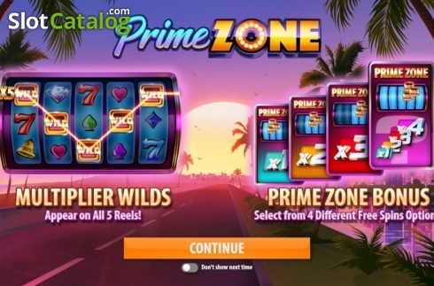 Start Screen. Prime Zone (Video Slot from Quickspin)
