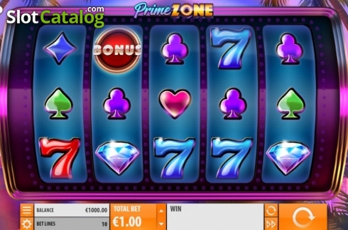 Reel Screen. Prime Zone (Video Slot from Quickspin)