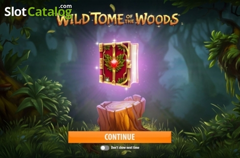 Start Screen. Wild Tome of the Woods (Video Slot from Quickspin)