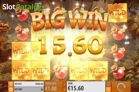 Big Win. Wild Tome of the Woods (Video Slot from Quickspin)