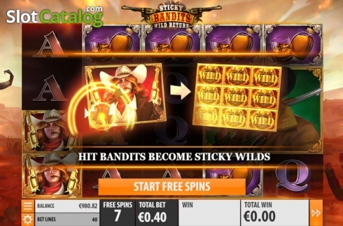 Skärm10. Sticky Bandits: Wild Return (Video Slot från Quickspin)