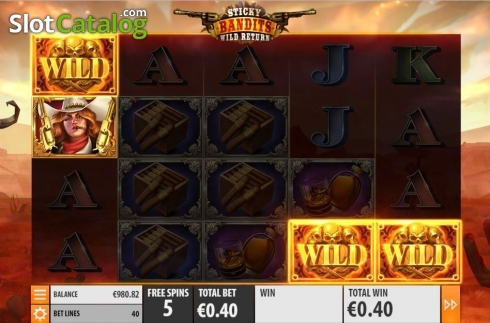 Skärm11. Sticky Bandits: Wild Return (Video Slot från Quickspin)