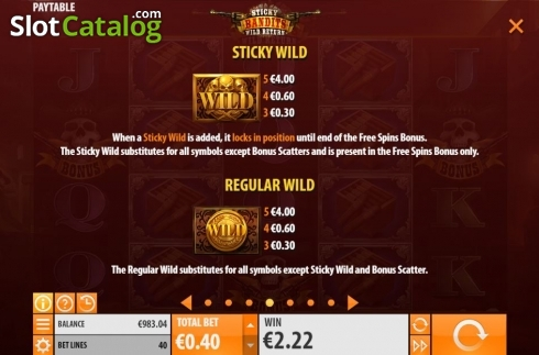 Skärm16. Sticky Bandits: Wild Return (Video Slot från Quickspin)