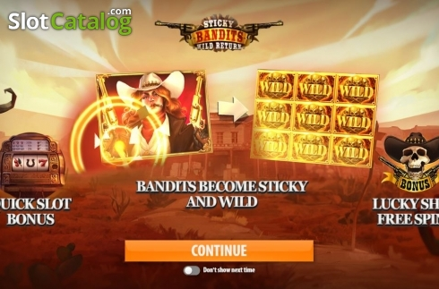 Skärm3. Sticky Bandits: Wild Return (Video Slot från Quickspin)