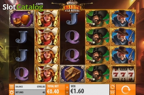 Skärm7. Sticky Bandits: Wild Return (Video Slot från Quickspin)