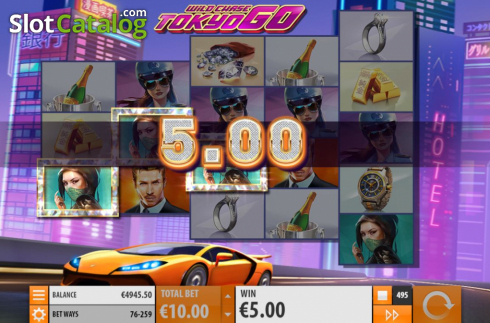 Win Screen 2. Wild Chase: Tokyo Go (Video Slot from Quickspin)
