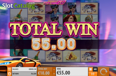 Total Win. Wild Chase: Tokyo Go (Video Slot from Quickspin)