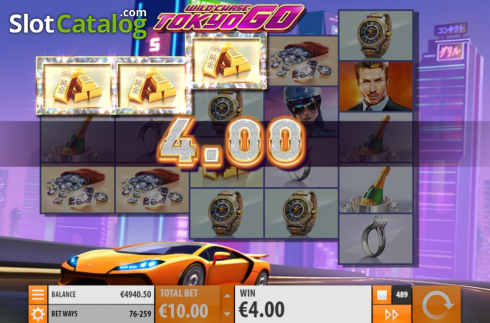 Win Screen 3. Wild Chase: Tokyo Go (Video Slot from Quickspin)
