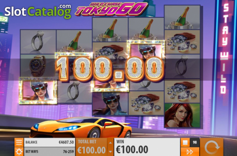 Win Screen 4. Wild Chase: Tokyo Go (Video Slot from Quickspin)