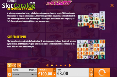 Features. Wild Chase: Tokyo Go (Video Slot from Quickspin)