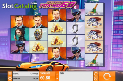 Reel Screen. Wild Chase: Tokyo Go (Video Slot from Quickspin)