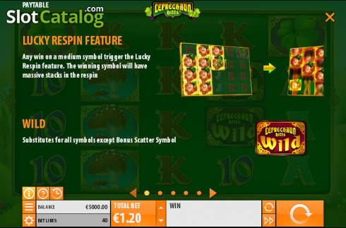Paytable 1. Leprechaun Hills (Video Slot from Quickspin)