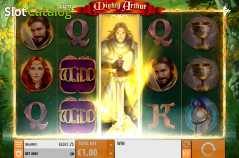 Win Screen 3. Mighty Arthur (Video Slot from Quickspin)