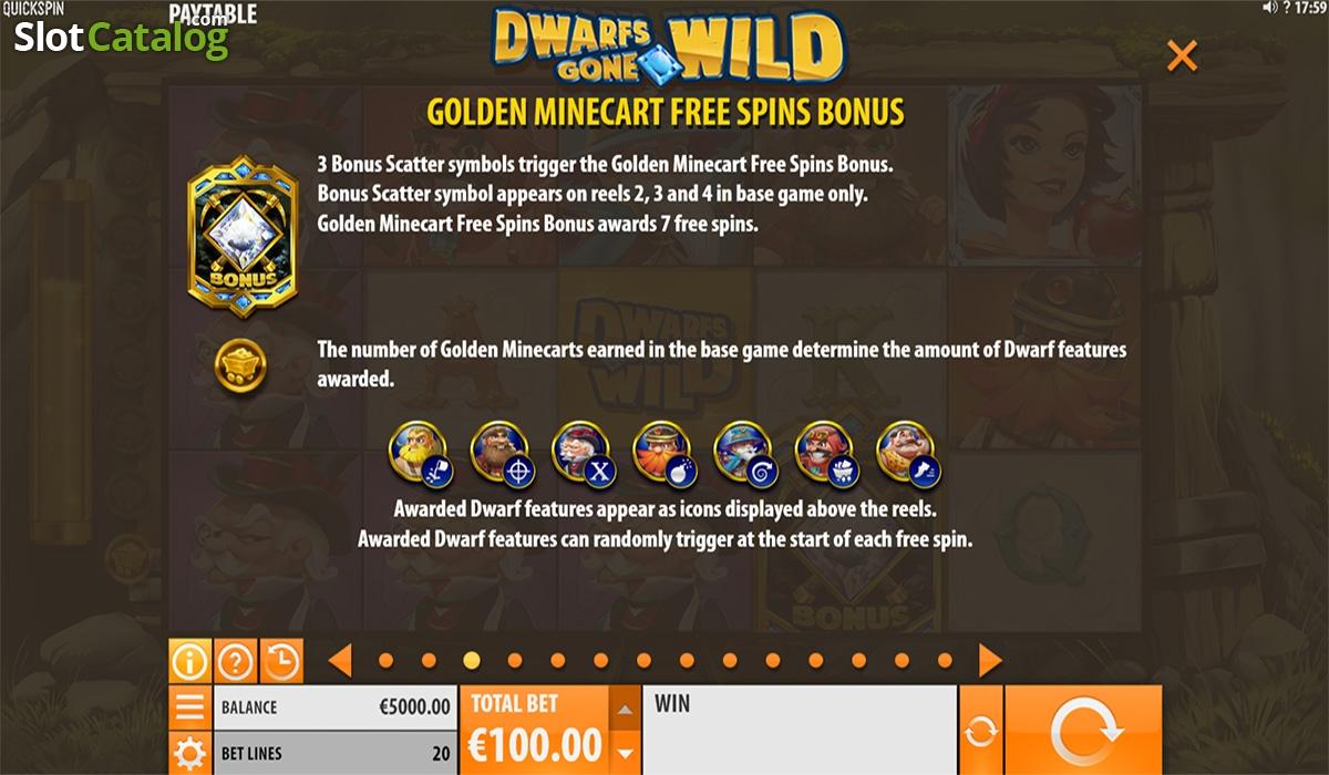 Dwarfs Gone Wild Slot Review, Bonus Codes & where to play from United  Kingdom