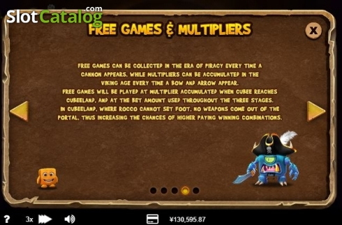 Free Spins Multiplier. Cubee (Video Slot from RTG)