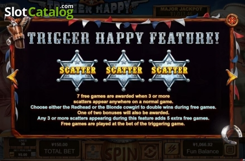 Features. Trigger Happy (Video Slot from RTG)