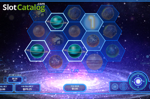 Win Screen 2. Pulsar (Video Slots from RTG)