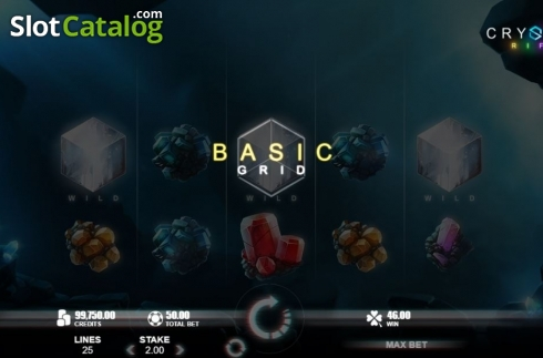 Basic Grid. Crystal Rift (Video Slot from Rabcat)