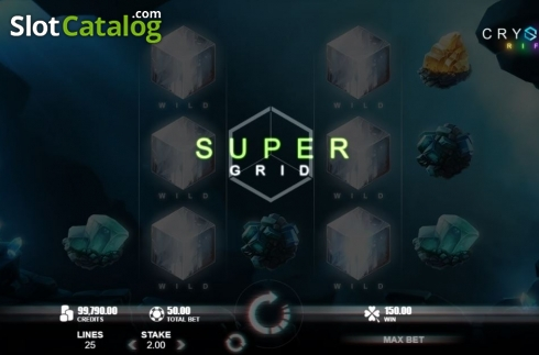 Super Grid. Crystal Rift (Video Slot from Rabcat)