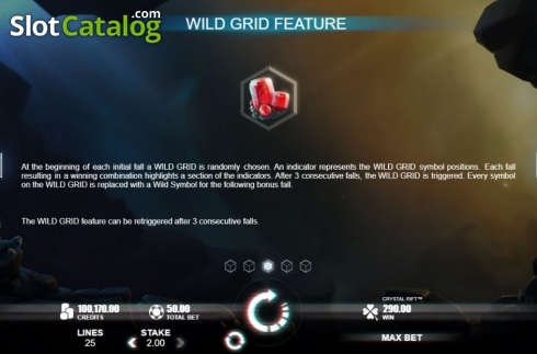 Wild Grid. Crystal Rift (Video Slot from Rabcat)