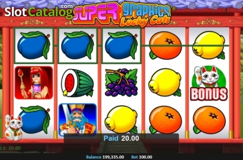 Win Screen 2. Super Graphics Lucky Cats (Video Slot from Realistic)