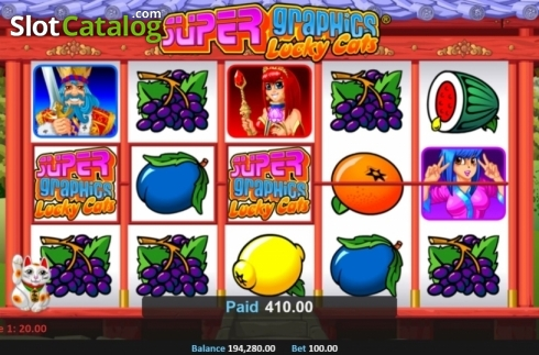 Win Screen 4. Super Graphics Lucky Cats (Video Slot from Realistic)