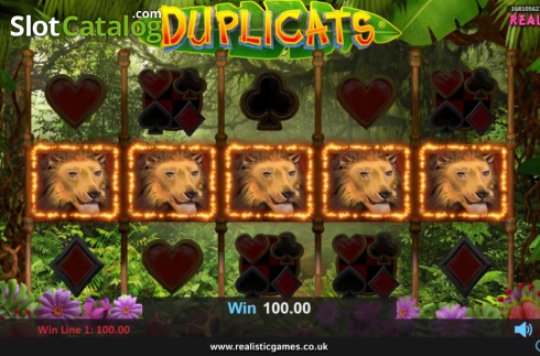 Win Screen. Duplicats (Video Slots from Realistic)