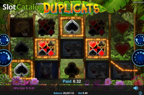 Win Screen 2. Duplicats (Video Slots from Realistic)