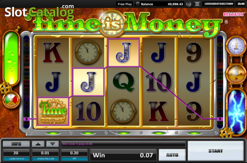 Screen 1. Time is money (Video Slots from Realistic)