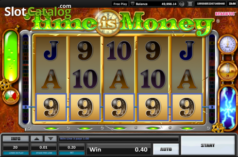 Screen 2. Time is money (Video Slots from Realistic)