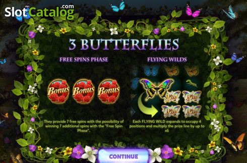 Video 1. 3 Butterflies (Slot vidéo de Red Rake)