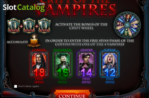 Crypt of the Vampires (Video Slot from Red Rake)