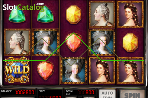 Win Screen. Queens and Diamonds (Video Slot from Red Rake)
