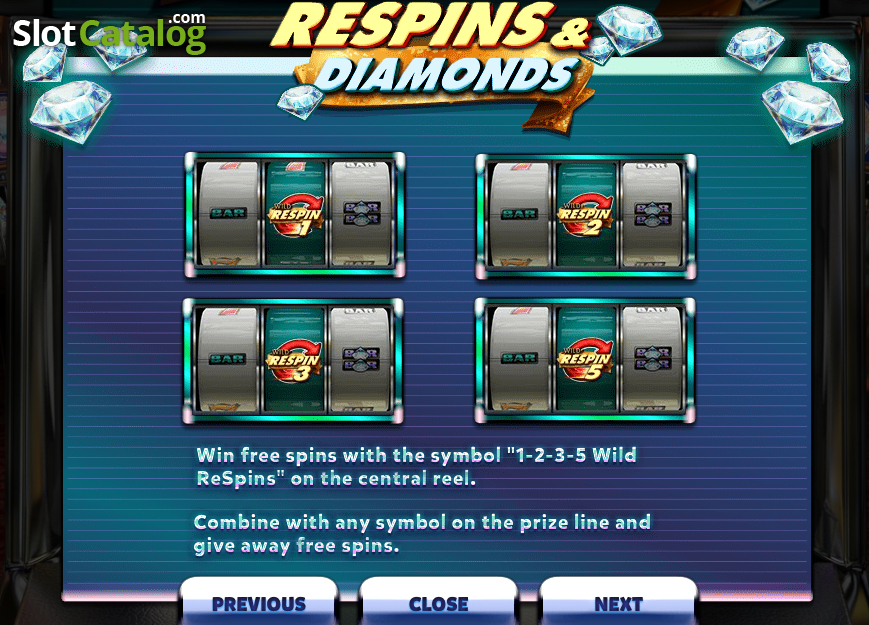 Respins Amp Diamonds Slot Review Bonus Codes Amp Where To