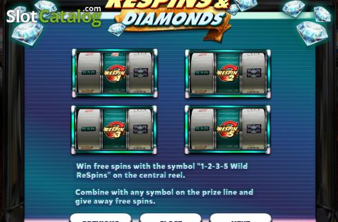 Respins Amp Diamonds Slot Review Bonus Codes Amp Where To