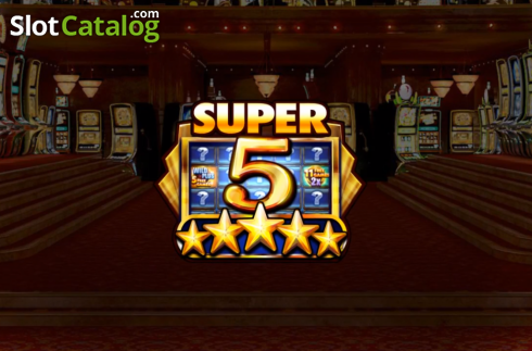 review of super 5 stars video slot from red rake slotcatalog. Black Bedroom Furniture Sets. Home Design Ideas