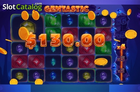 Win screen 7. Gemtastic (Video Slot from Red Tiger)